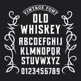 Whiskey label font 002 vector illustration