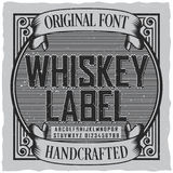 Whiskey Label Font Poster Stock Images