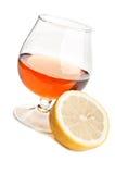 Whiskey and lemon Stock Photos