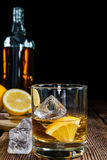 Whiskey with Lemon Stock Photo