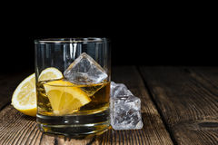 Whiskey with Lemon Stock Photos