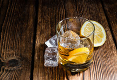 Whiskey with Lemon Royalty Free Stock Photos