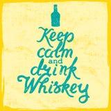 Whiskey Lettering art Stock Images