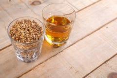 Whiskey and malt stock photo