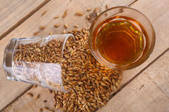 Whiskey and malt royalty free stock image