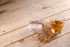 Whiskey and malt royalty free stock photo