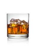 Whiskey med is Royaltyfri Foto