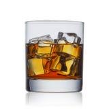 Whiskey med is royaltyfri bild
