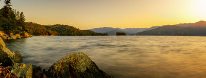 Whiskey in the Morning. Sunrise a Whiskeytown Lake Royalty Free Stock Images