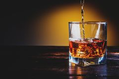 Whiskey, whiskey o bourbon fotografie stock