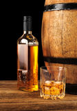 Whiskey and oak barrel Royalty Free Stock Image