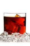 Whiskey On Rocks Stock Photography
