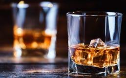 Whiskey, whiskey ou bourbon image stock