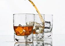 Whiskey pleuvant à torrents Image libre de droits
