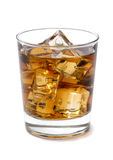 Whiskey on the Rock. S on White Background stock images