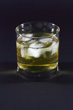 Whiskey on the rocks. Royalty Free Stock Images