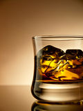 Whiskey on the rocks Stock Images