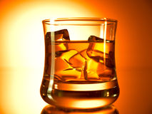 Whiskey on the rocks Royalty Free Stock Photo