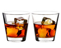 Whiskey on rocks Royalty Free Stock Photos