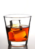 Whiskey on rocks Stock Photos