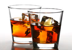 Whiskey on rocks stock photo
