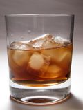 Whiskey on the rocks Royalty Free Stock Images