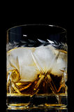 Whiskey on the rocks. Royalty Free Stock Photo