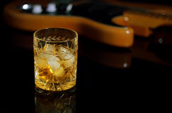 Whiskey on the rocks. Stock Image