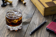 Whiskey on the rocks Royalty Free Stock Image