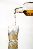 Whiskey on the rocks. Royalty Free Stock Photos