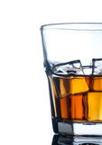 Whiskey on the rocks, vibrant colors Stock Image