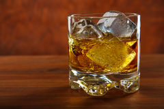 Whiskey on the rocks Stock Photos