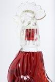 Whiskey rosso sulla bottiglia del tipo di pollo Immagini Stock