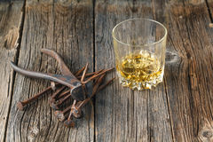 Whiskey and rust tools Stock Photos