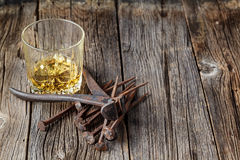 Whiskey and rust tools Stock Photography