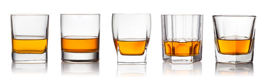 Whiskey. Scotch whiskey on a white background royalty free stock photo