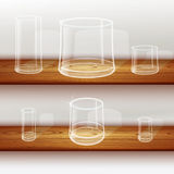 Whiskey shot glass. Zip includes 300 dpi JPG, Illustrator CS, EPS10. Vector with transparency Stock Image