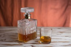 Crystal Whiskey Decanter royalty free stock images
