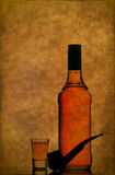 Whiskey with smoking pipe Stock Images
