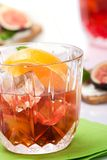 Whiskey with soda stock photo