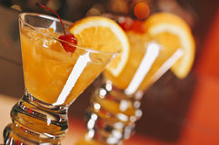 Whiskey Sour Cocktails Stock Photo
