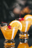 Whiskey Sour Cocktails Royalty Free Stock Images