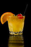 Whiskey sour on the rocks Stock Images