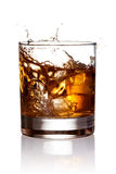Whiskey splash Royalty Free Stock Images