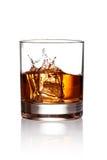Whiskey splash Royalty Free Stock Images