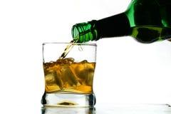 Whiskey splash Royalty Free Stock Photo
