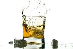 Whiskey splash Royalty Free Stock Image