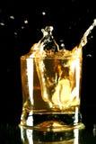 Whiskey splash Stock Image