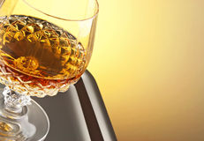 Whiskey in stem glass Royalty Free Stock Image