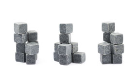Whiskey stone cube composition isolated Royalty Free Stock Photography